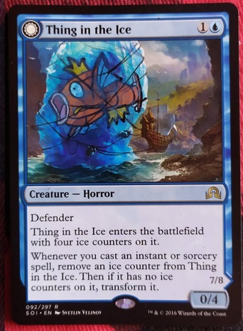 Mtg Thing In The Ice Awoken Horror 787800779 Cardmarket Thing in the ice has been played in more than 3712 decks in the last year. mtg thing in the ice awoken horror